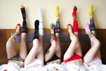原地打转第一次拍女士袜子广告片