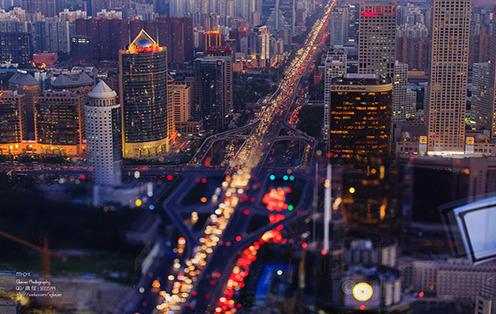 我的北京爬楼风光照