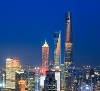 上海标志性的天际线