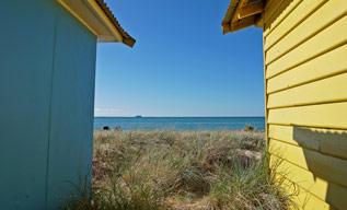莫宁顿半岛一景――彩色小屋