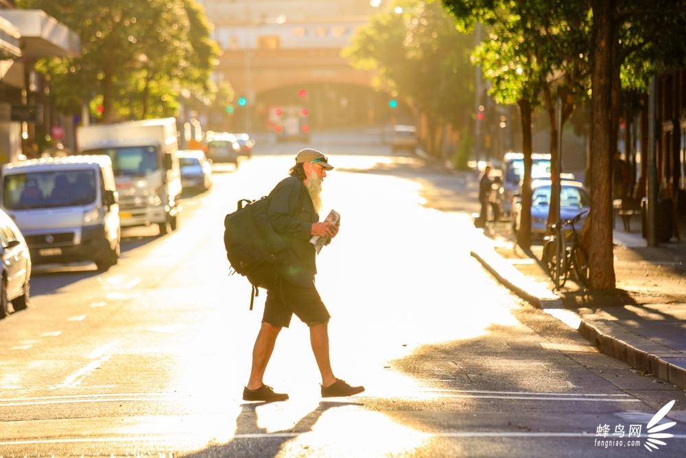 悉尼街头的行人