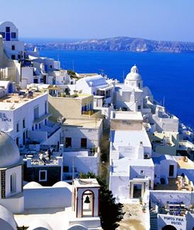 领略希腊古都文明 沉浸在碧海蓝天