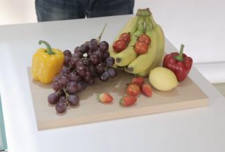 各种彩色的蔬果